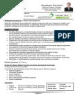 Anesthesia Technician CV