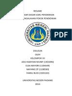 Resume DDIP - Permasalahan Pokok Pendidikan
