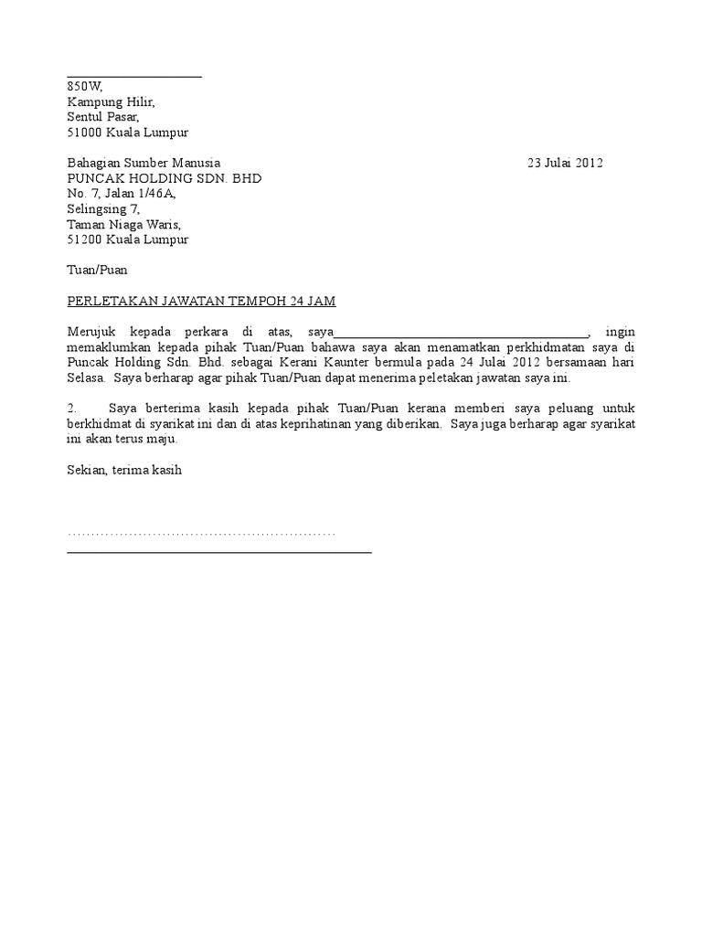 102332959 Contoh Surat Berhenti Kerja Doc