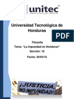 La Impunidad en Honduras Ensayo