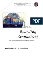 Miniature basic train boarding simulation