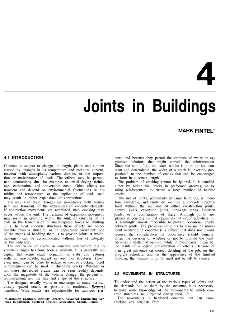 4 Joints In Buildings Thermal Expansion Concrete