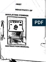 Thermal Conductivity of Insulating Powder experiment lab manual