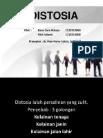 CSS - Distosia
