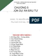 Chuong 5 - Lua Chon Du an Dau Tu