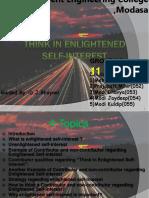 11thinking Elightened Self Intrest