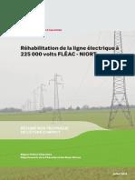 Réhabilitation de la ligne électrique à 225.000 Volts - FLEAC . NIORT