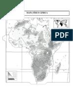 Mapa Físico Africa