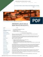 Sistemul Bancar Al Republicii Moldova « Drept Md