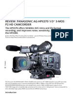 Review_ Panasonic AG-HPX370