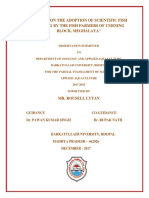 Studies on the Adoption of Scientific Fish Farming Meghalaya