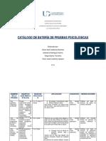 Catálogo de Pruebas