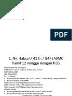 Ny. Habsah 41 Th G4P3A0M0 Hamil 12 Minggu Dengan HEG