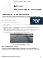Concrete Curing Time and Duration -Right Time of Curing Concrete