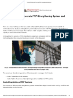 Cost of Reinforced Concrete FRP Strengthening Systems