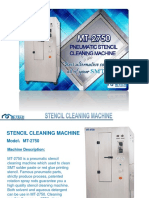 mt-2750 pneumatic stencil cleaning machine