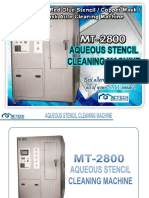 mt-2800 aqueous stencil cleaning machine