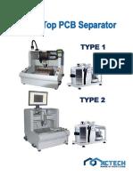 mt-3000 table-top pcb separator