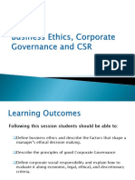Business Ethics, Corporate Governance & CSR