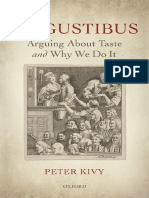 Kivy, Peter-De Gustibus _ Arguing About Taste and Why We Do It-Oxford University Press (2015)