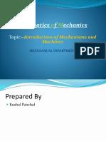 Kinematics of Mechanics Ppt