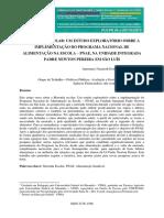 Estudos Sobre a Implementação Do PNAE
