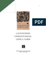 Coser Lewis Las Funciones Del Conflicto Social