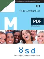 Internationale Prüfungen Für Deutsch Als Fremdsprache. ÖSD Zertifikat C1 ZC1. Modellsatz