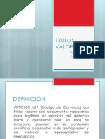 TITULOS VALORES - DIAPOSITIVAS