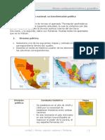 Actividad 5 El Territorio Nacional Su Transformación Política