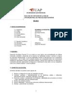 Silabo psicologia Desarrollo Personal II-habilidades Sociales