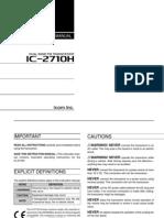 Icom IC-2710H Instruction Manual