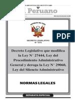 Decreto Legislativo Que Modifica La Ley n 27444 Ley Del Pr Decreto Legislativo n 1272 1465765 1