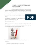 Formato Para Presentación de Trabajos Escritos
