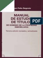 Feliu - Manual de Estudio de Titulos