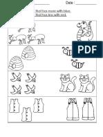 Worksheet y1 Maths