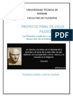 Proyecto Final de Ciclo Filosofia I