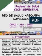 EVALUACION SEMESTRAL 2010 - RED AQP CAYLLOMA