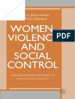 Women Violence and Social Control