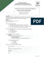 FST Tanger Informatique