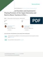 Musculoskeletal Disorders Music Teachers Asymmetric Work Postures 2009