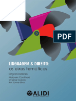 E-Book Linguagem e Direito Os Eixos Tematicos