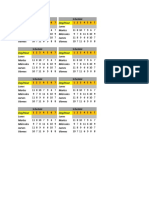 Timetable 2018