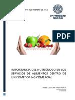 Importancia Del Nutriólogo en Un Comedor Público