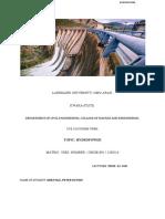 Course Work Hydropower