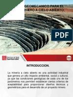 Diseño Geomecanico de la mineria Cielo Abierto