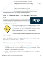 How to Create Secondary Cost Element for Activity Type - Your Finance Book