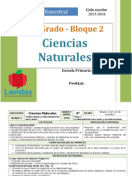 Plan 5to Grado - Bloque 2 Ciencias Naturales