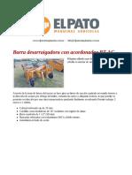 Barra Desarraigadora Con Acordonador BT-AC - El Pato Maquinarias