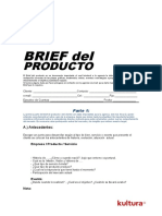 Modelo de Brief de Producto